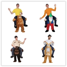 Easter Bunny Mascot Costume Rabbit Carry Me Bavarian Beer Guy Ride On Oktoberfest Teddy Mascot New Fancy Dress Costume