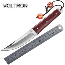 VOLTRON Scalpel Multifunctional Camping Fixed Blade Knife Stainless Steel Blade Fruit Knife Wooden Handle Tactics Hunting Knives(China)