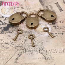 Old Vintage Antique Style Mini Archaize Padlocks Key Lock With key (Lot Of 3) #S018Y# High Quality