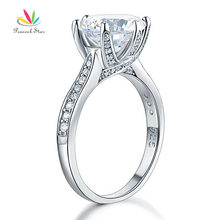 Peacock Star 925 Sterling Silver Luxury Wedding Anniversary Engagement Ring 3 Ct Jewelry CFR8228(Hong Kong)