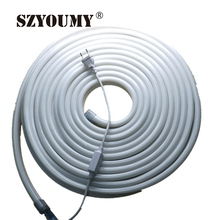 SZYOUMY 50 Meters Led Neon Flexible Tube White/Warm White/Yellow/ Red/ Green/Orange/Blue 220/110V Lantern Flexible Neonlight