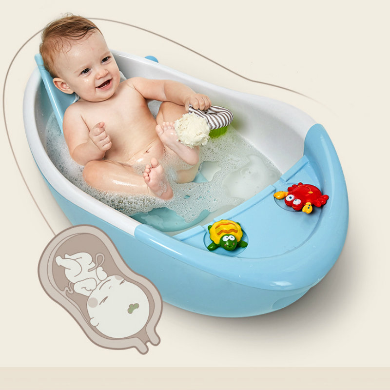 infant newborn to toddler bath shower baby bath tub temperature sensing bathtub children spinal bionic bathtub with roller tub