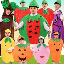 Children Kids Halloween Party Children's Day Cartoon Fruit watermelon/Strawberry/apple Costumes Cosplay Clothes Boy Girl Y660(China)