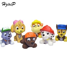 6Pcs/Lot Canine Patrol Dog Baby Toys Mini Model Decoration Patrol Puppy Toy Cute Animals Rubber Squeaky Classic Toys Kids Gifts