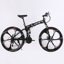 bike 26 inch double disc brake mountain bike With shock absorption City bicycle Spoke wheel and 3 Knife wheel Free Shipping