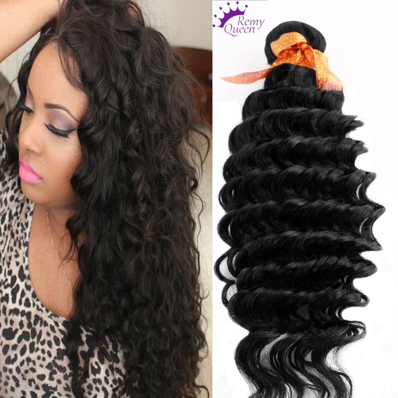1Thick Piece Indian Virgin Hair 9a Indian Deep Wave 100% Human Hair Weaving Unprocessed Virgin Curly Hair Rosa Hair Products<br><br>Aliexpress