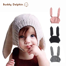 Buy New Design Baby Rabbit Ear Knitted Crochet Hats Cute Toddler Winter Warm Beanie Caps 0-3Years Old Kid Boy Girls Hat Caps. for $5.33 in AliExpress store