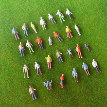 wholesale 1/100 SCALE model train building people Painted Model Train Passenger People Figures Scale(China)