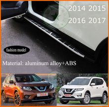 "side step nerf bar running board for Nissan X-trail Rogue 2014-2018,""fashion"" model,aluminium alloy, ISO9001 quality supplier(China)"