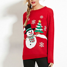 Preself Sweaters Women O Neck Long Sleeve Christmas Letter Sequins Embroidery Fashion Casual Pullovers Fall Lady Jumper Sweater