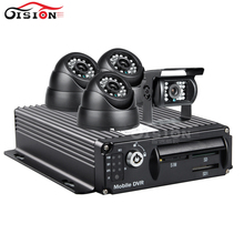 CCTV Surveillance IOS/Android/PC Remote Real Time Video Monitoring  4G GPS 256G 4CH Mobile Car Dvr +4PCS CCD  Infrared Cameras
