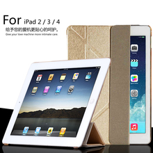 For Apple iPad 2/ipad 3 10.1 inch Smart Sleep Case Cover, Ultra Slim Deform Designer Tablet Leather Cover For iPad 4 Case