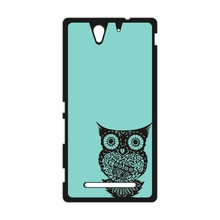 Owl On Mint Tree Plastic Cover Case for iPhone 4 4s 5 5s SE 5c 6 6s Plus SONY Xperia Z Z1 Z2 Z3 Z4 Z5 MINI M2 M4 C3 C4 C5 T2 T3(China)