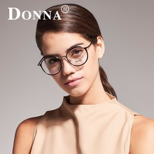 Donna Women Fashion Reading Eyeglasses Optical Glasses Frames Glasses Women New Round Frame Clear Lens Ultra Light Frame