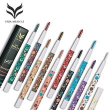 HUAMIANLI Brand 10 Color Shimmer Matte Eye Shadow Pen Pigment Nude Smoked Glitter Eyeshadow Pencil Shine Eye Liner Pen Makeup(China)