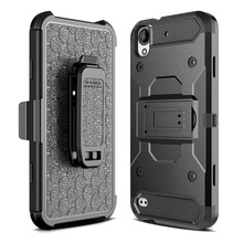 For HTC Desire 530 630 PC + Silicone Hybrid Heavy Duty Military Shockproof Armor Case For HTC 530 630 Belt Clip Strap Cover