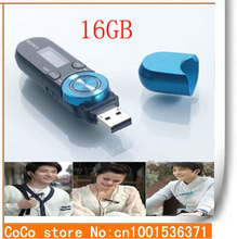 2015 High Quality Fashion Portable Mini 16GB USB MP3 Music Player HD LCD Screen FM Radio Support Voice Recorder