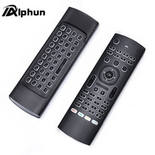 Alphun Quality Black MX3 Backlight 2.4G Wireless Keyboard Controller Remote Control Air Mouse for Smart Android TV Box mini PC