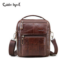 Buy Cobbler Legend Genuine Leather Mens Bags Small Flap Casual Messenger Bag Male Crossbody Bags Men's Shoulder Bag Business Handbag for $37.64 in AliExpress store