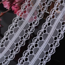 20Yards 2.5cm Beautiful Mesh Fabric Lace Trim Inelastic Embroidered Sewing Supplies DIY Ribbon Decoration(China)