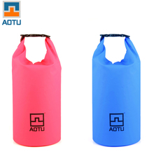 AOTU 20L Ultralight Outdoor Camping Travel Rafting Waterproof Dry Bag Swimming Travel Kits Pink/Blue Two Colors Hiking Equipment(China)