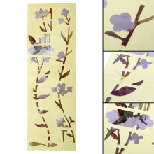 Acoustic Electric Guitar Bass Hummingbird Flower Inlay Sticker DIY Fretboard Marker Decal Decorate Guitar Sticker ARE4
