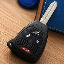 Remote Key Fob Uncut Blade Blank Keyless Car Auto key Shell Cover Remote Keyless Entry Combo Transmitter Chrysler Jep Key Fob
