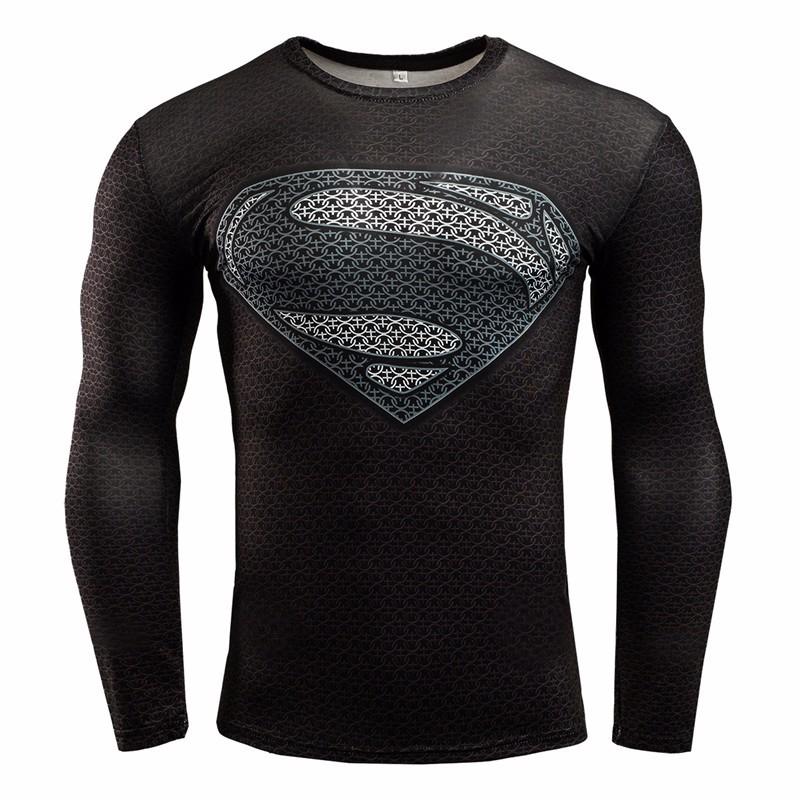 Marvel Gyms Clothing Fitness Compression Shirt Men Batman t-shirt men Long Sleeve 3D t shirt men Crossfit Tops tee shirt homme 26
