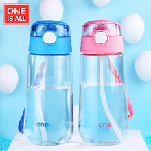500ml Kids Water Bottle with Straw Brief Sport Bottle Juice Drinking Bottles Portable Cartoon Portable Handgrip Brand Teacup