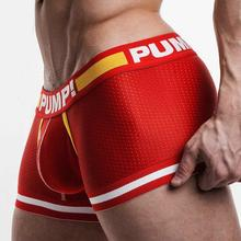 3 VALUE PACK TOUCHDOWN CRUISE Leg Elastic Nylon mesh breathable PUMP! brand men underwear boxer sexy Gay Penis Crotch Cotton Cup(China)