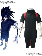 Naruto Cosplay Naruto Shirt Naruto Costume Uchiha Sasuke Cosplay Black Boys Naruto Cosplay Costume(China)