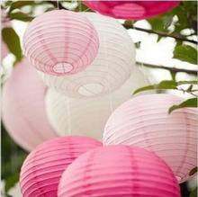 Cheap! (5pcs/lot) 12''(30cm) Multi color Chinese Round Paper Lanterns Led Lights for Wedding Birthday Party Decorations Balloon