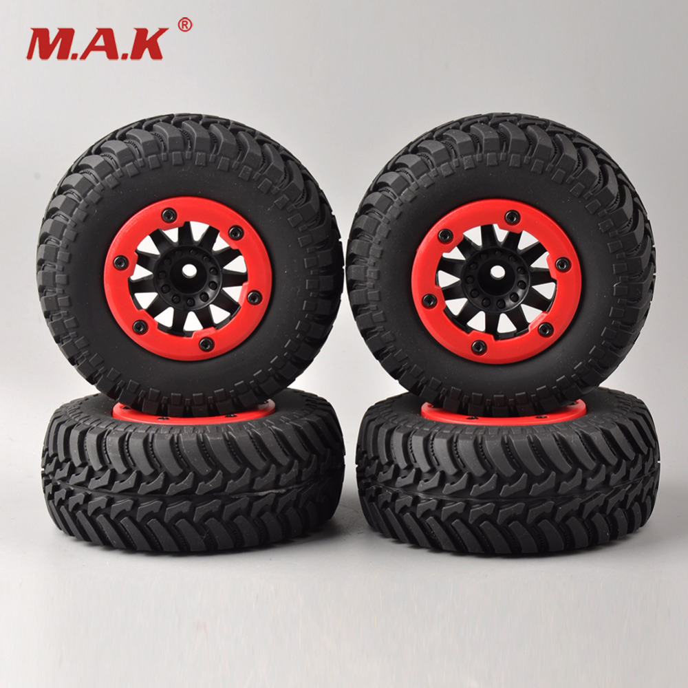 4 Pcs/Set 1/10 Bead Lock Short Course Tyres 12mm Hex for 1/10 RC Car Parts &amp; Accessories<br>