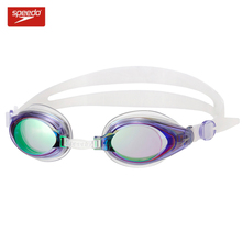 Speedo Silica Gel  Anti-fog Frame Plating Swim Goggles Anti-UV Glass Men's Women's Adjustable Eyewear Scratch-proof Lens