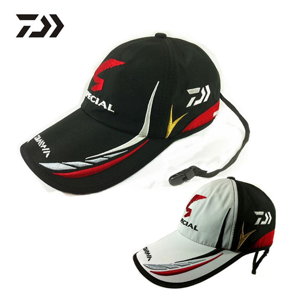 Adult Men Adjustable Breathable Fishing Daiwa Japan Sunshade Sport Baseball Fishermen Hat Cap Black Special Bucket Hat With Logo<br><br>Aliexpress