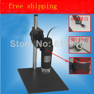 1PCS  newest 1X -500X USB Digital Microscope + Holder, 8-LED Endoscope with Measurement Software USB Microscope<br>