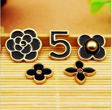 6 sets/lot Cell Phone Case DIY Charms Alloy Flower Daisy Decoration 5pcs/set(China)
