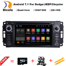 "HD 6.2"" 2G RAM Android 7.11 CAR DVD player FOR JEEP Concorde/Dakota/Durango/Interpid car audio stereo Multimedia GPS Head unit"