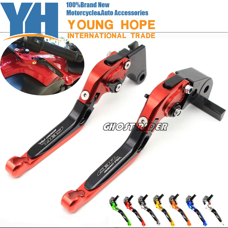 For HONDA CBR 1000RR 2004 2005 2006 2007 Motorcycle Adjustable Folding Extendable Brake Clutch Levers logo CBR1000RR<br>