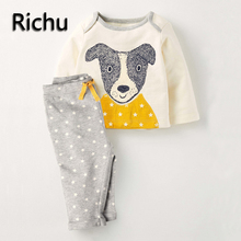 Richu cheap unisex children boys clothing sets children's sports suits outfit winter and autumn clothes long sleeve sport set(China)