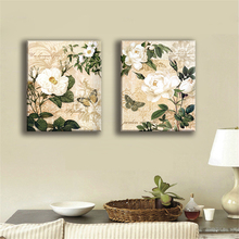 Oil Painting Frameless Canvas Print Flower Art Modular Home Decoration Charm poster Still Life Picture for Room Wall 2 Panel(China)