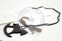necklaces pendant Fashion jewelry popular for women wooden black white bowknot coffee color design CN post(China)