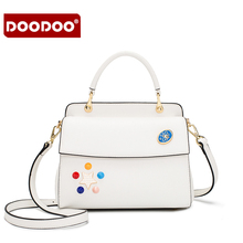 DOODOO Women lovely Handbag Lady PU leather Shoulder Bag Girls Casual Kelly bag High quality material messenger bag for women