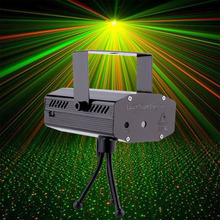 Wholesale Mini Projector R&G DJ Disco Light Stage Xmas Party Laser Lighting Show DJ-BK US PLUG Hot Search