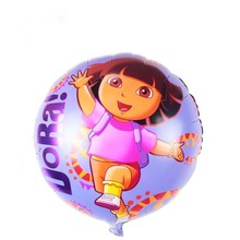 10pcs/lot Dora Explore Foil Balloons Birthday Party Decoration Ballon Children Classic Toys Inflatable Air Balls