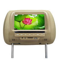 7 inch TFT LCD Screen Car Video Products General Car Headrest Monitor Beige color AV USB SD MP5 speaker  SH7038-MP5
