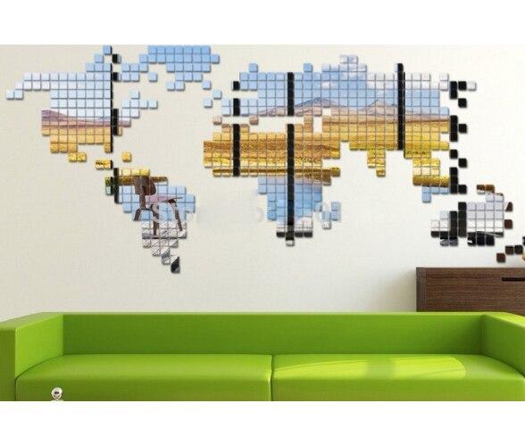 Online kopen wholesale moza ek muur art uit china moza ek muur art groothandel - Driedimensionale spiegel ...