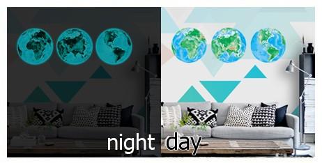 HTB1F5rKcmYH8KJjSspdq6ARgVXaQ - Hot sale 1PCS new Luminous blue earth Cartoon DIY 3d Wall Stickers for kids rooms bedroom wall sticker Home decor Living Room