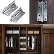 2pcs/set Stainless Steel Cabinet Closet Door Hinges 90 Degree Self-closing Door Closers Hardware Supplies FREE SHIPPING(China)
