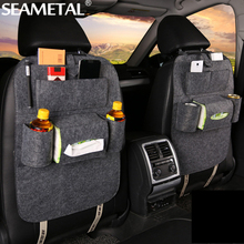 Car Organizer Storage Bag Back Seat Box Organizer Holder In Cars Backseat Pockets Drink Phone Auto Stowing Tidying Accessories(China)